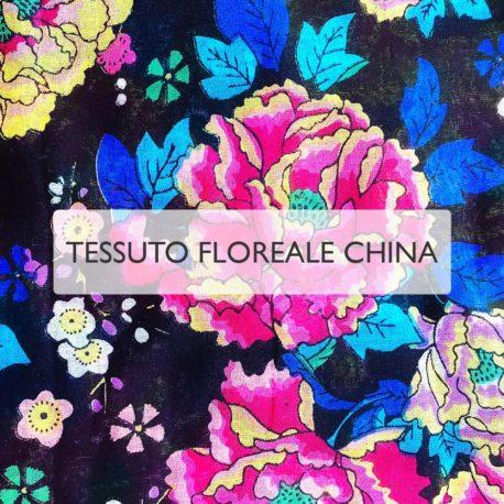 Motivo Floreale CHINA - Mascherine in tessuto personalizzate lavabili