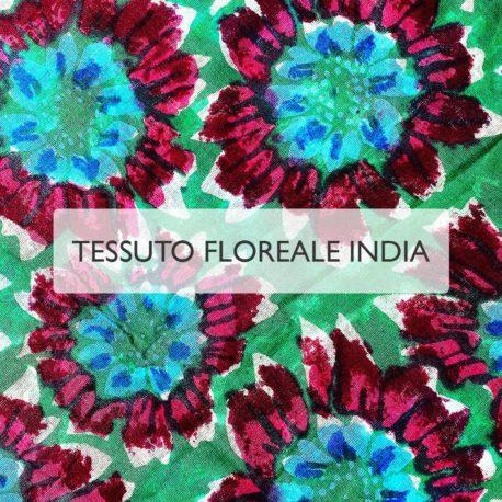 Motivo Floreale INDIA - Mascherine in tessuto personalizzate lavabili