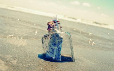Conversazione transoceanica con una bottiglia