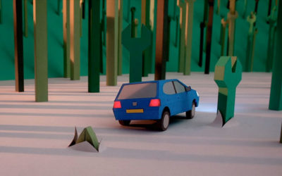 Lo spot televisivo Peugeot fatto con la carta