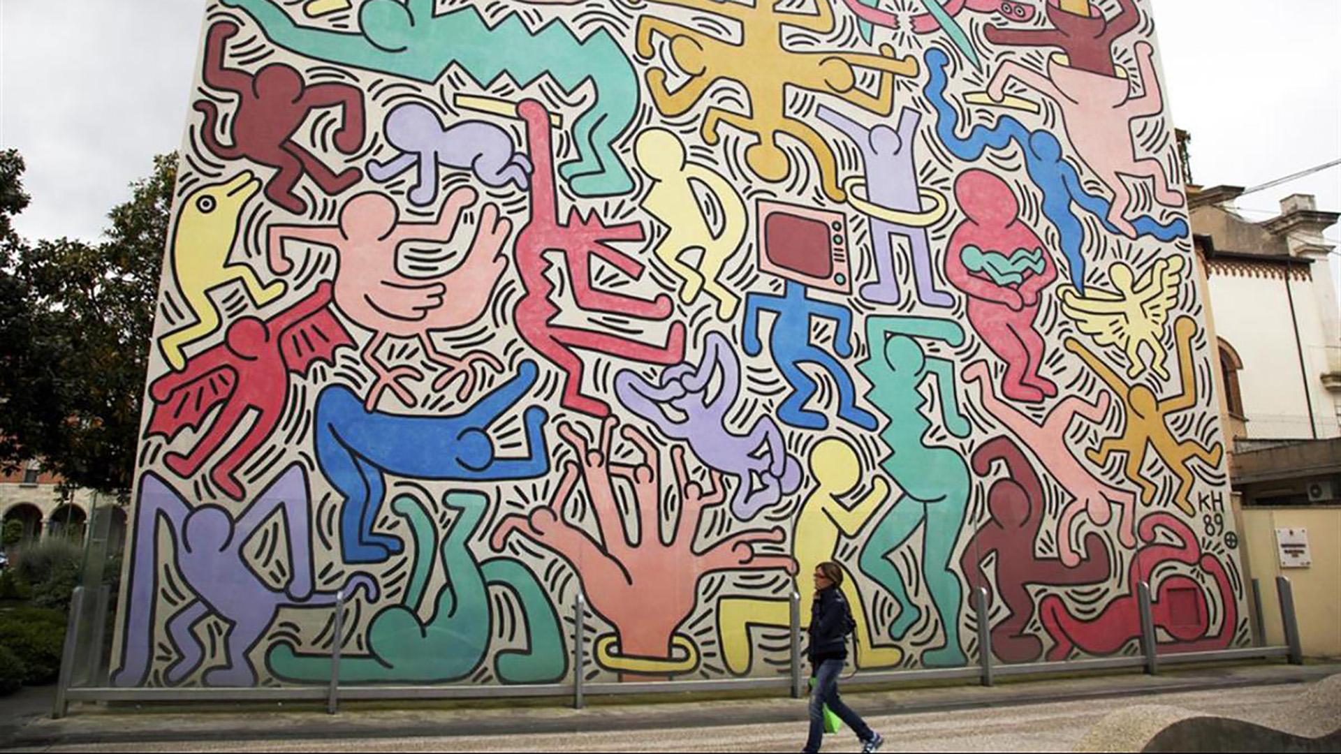Keith Haring: il murale Tuttomondo di Pisa