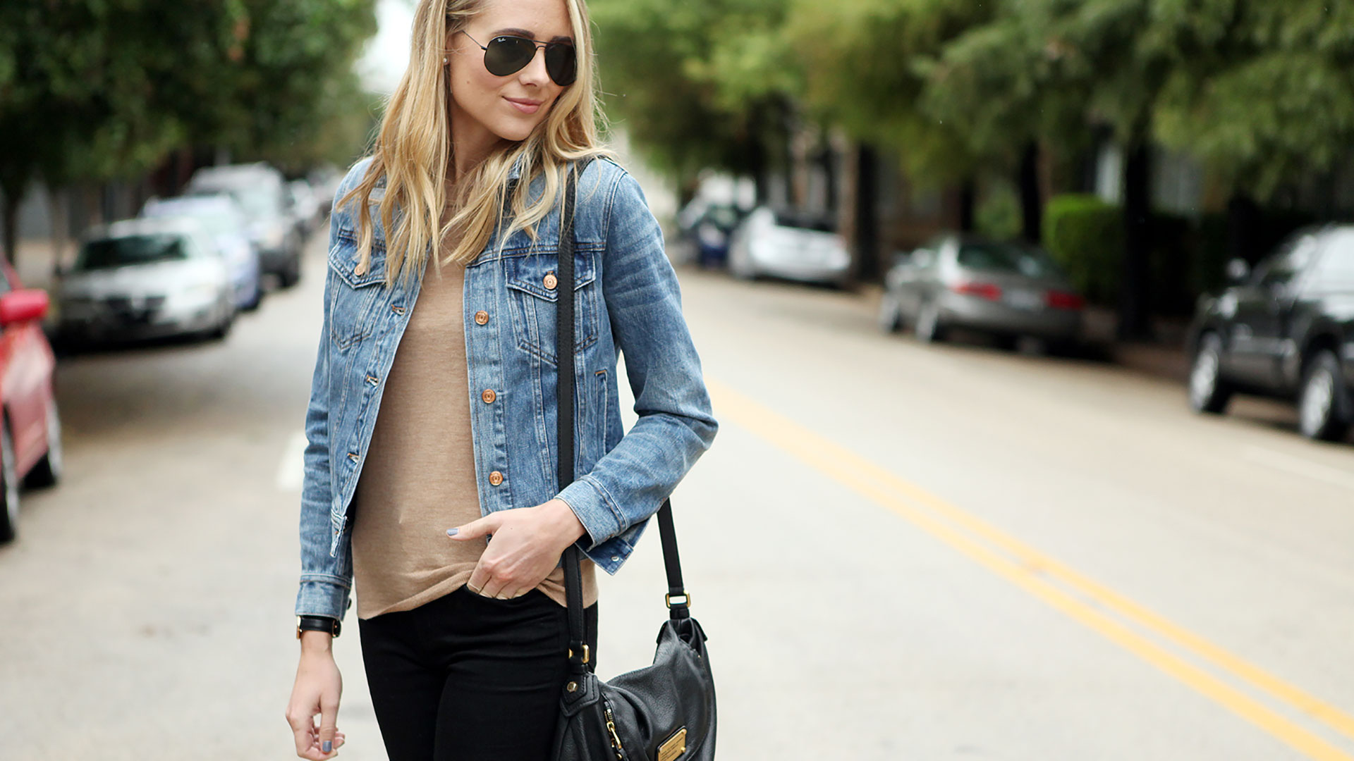 giacca di jeans look
