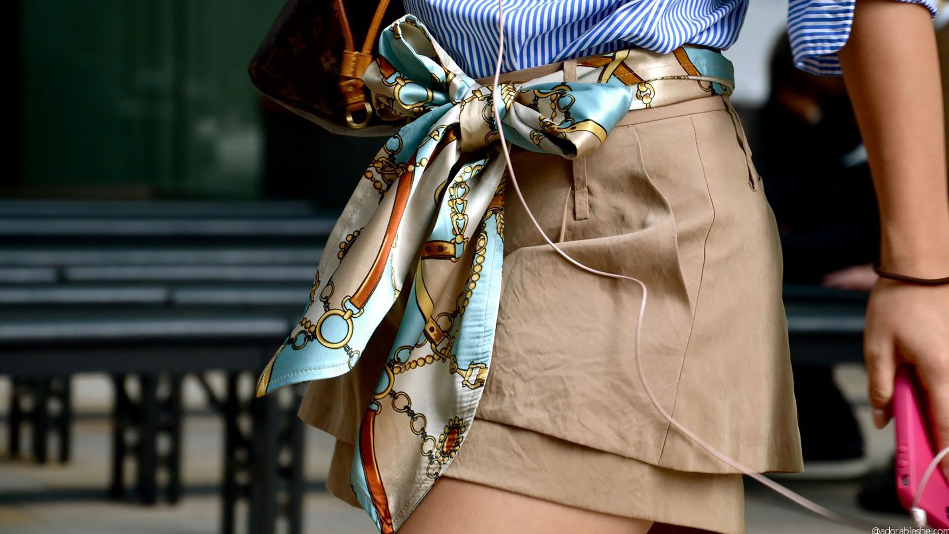 foulard come cintura