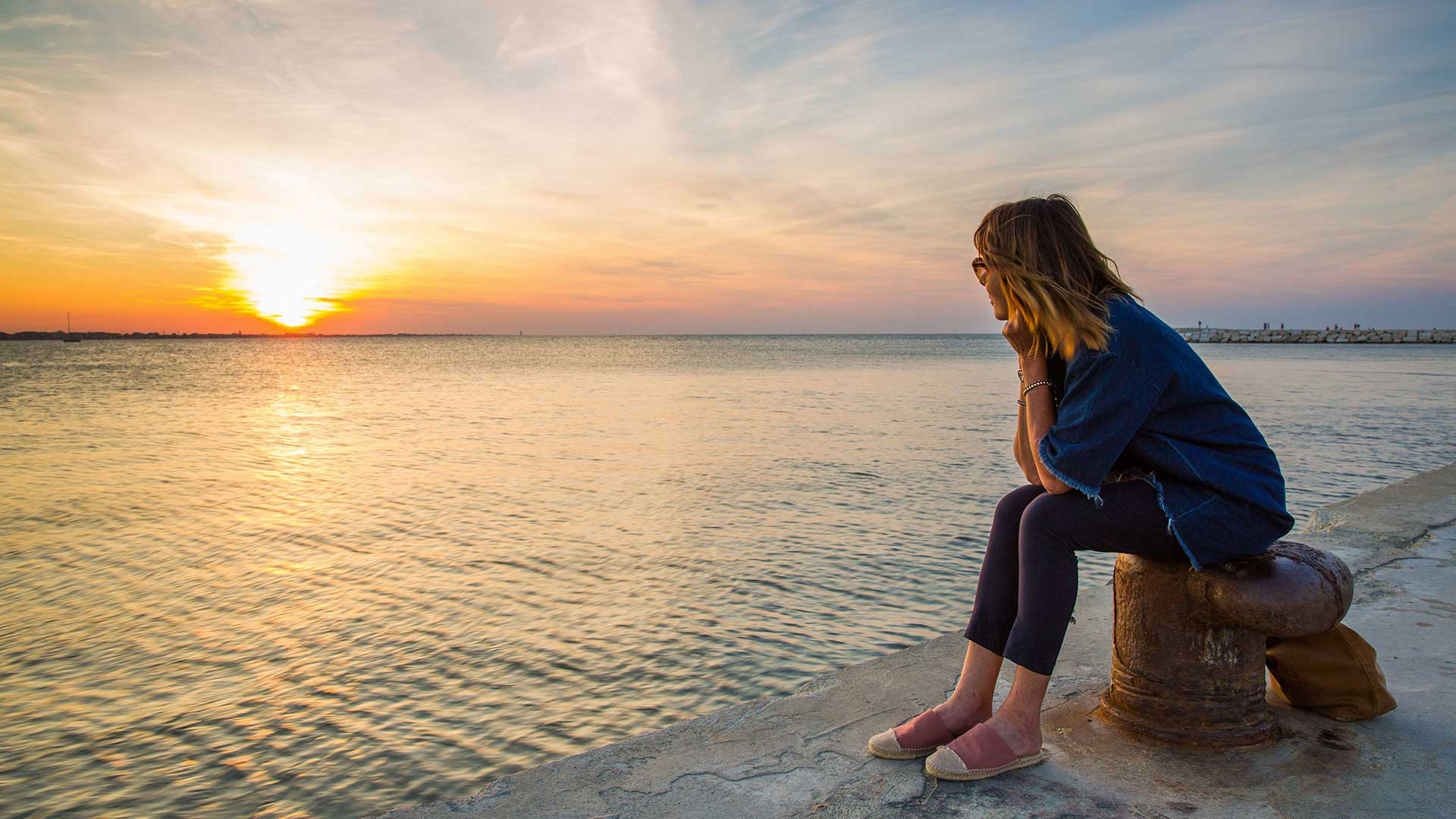 guardare il tramonto terapia